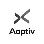 Logo for aaptiv company.