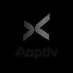 Logo for aaptiv company.